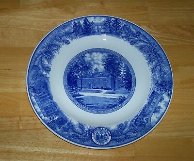 Wedgwood Barlaston Etruria Plate vintage University of Maine Alumni Hall blue
