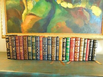 Vintage LOT of 24 FRANKLIN LIBRARY LIMITED EDITION BOOKS / LEATHER BOUND 1976-79