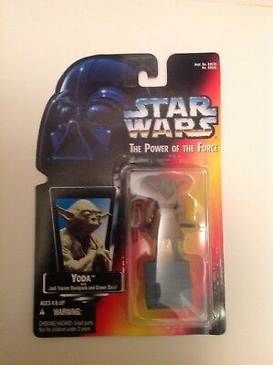 Star Wars Potf Red Orange Card Jedi Master Yoda Dagobah Backpack Training Figure
