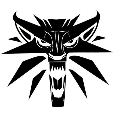 14.3*12.3CM Creative Car Styling Decal The Witcher Wolf Medallion Car Stickers