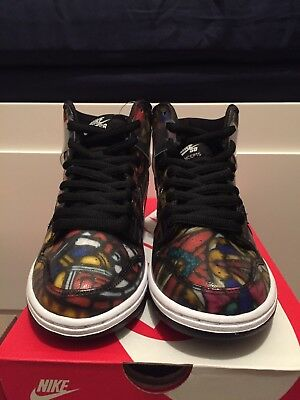 best service 8c3e5 10305 Concepts NIKE Dunk High Premium SB Stained Glass CNCPTS 313171-606 Gym Red  Sail