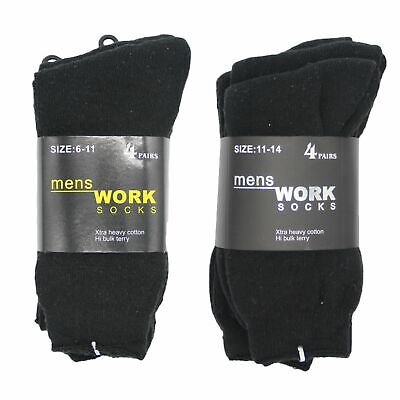 4 Pairs New Men's Extra Thick Heavy Duty Cotton Socks Business Work Outdoor Warm