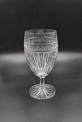"""Waterford Crystal Water Glass 6 3/4"""" Mint Signed"""