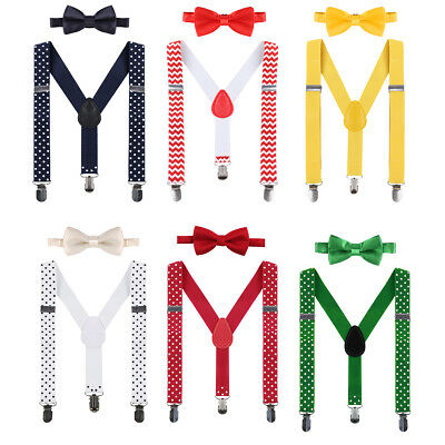Infant Baby Boy 1st Birthday Party Cake Smash Suspender Bow Tie Photography Prop