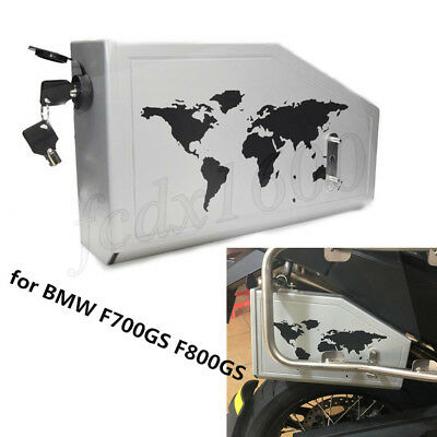 Motorcycle Onboard CNC Side Tool Box Lock Case for BMW F700GS F800GS 2013-2018