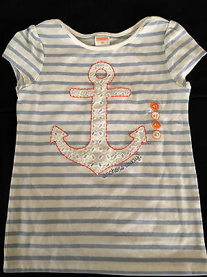 *nwt* Gymboree Little Girls Size 4T  Anchors Away Striped Top $19.95 Retail