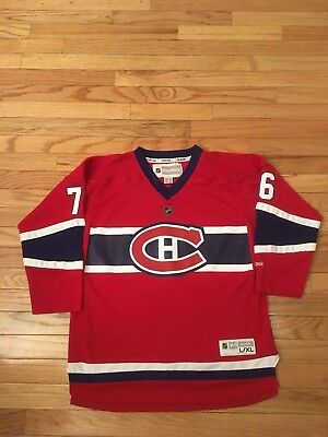 huge discount c1a85 3e62f P.K. SUBBAN MONTREAL Canadiens NHL Reebok Jersey Youth Size L/XL