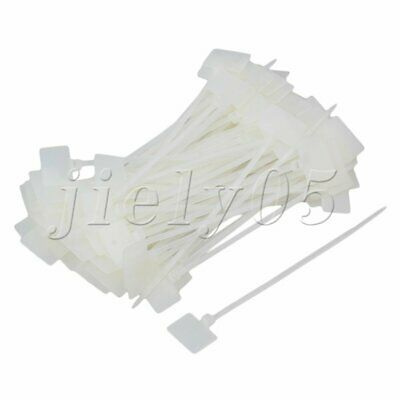 100pcs 10cm Write Tag Zip Ties On Ethernet Wire Power Cable Label Mark Tag
