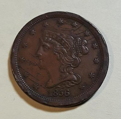 1856 U.S. Braided Half Cent VF+ details