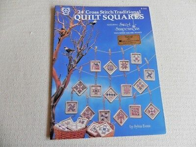 24 Cross stitch Traditional Quilt Squares