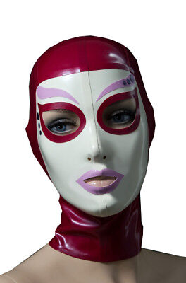 Sexy Latex Hood Rubber Unisex Mask Gummi 0.4mm for Party Wear Catsuit Unique