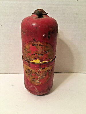 Vintage Antique SMALL Fire Extinguisher