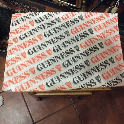 Twenty Sheets Of 60s Guinness Advertising Wrapping Paper 20'x15'