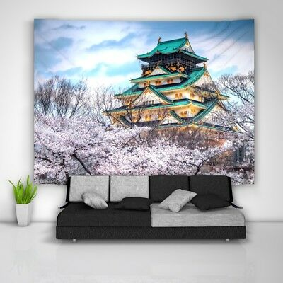 City Japan Tapestry Art Wall Hanging Sofa Table Bed Cover Home Decor