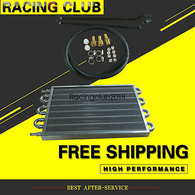 Oil Cooler Black 8 ROW Transmission Radiator Converter Manual To Automatic