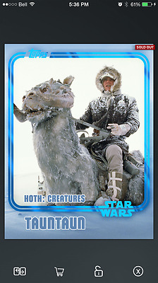 Topps Star Wars Card Trader - TaunTaun - Hoth Encounter - Creatures - Blue SWCT