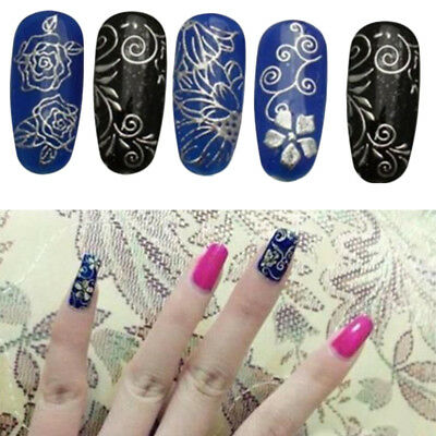 Lot 108pcs 3D Flower Lace Nail Art Water Transfer Decals Sticker Tips Decoration