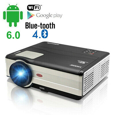 1080p HD Android Projector Bluetooth Home Cinema Movie Netflix HDMI WIFI Youtube