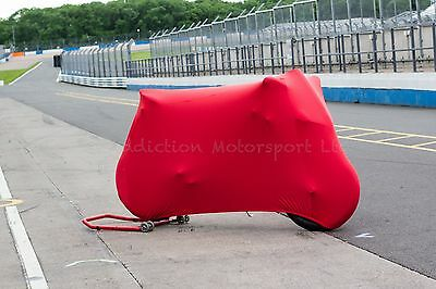 Ducati 848, 1098, 1198 S R Super Soft Stretch Indoor Bike Cover Breathable Red