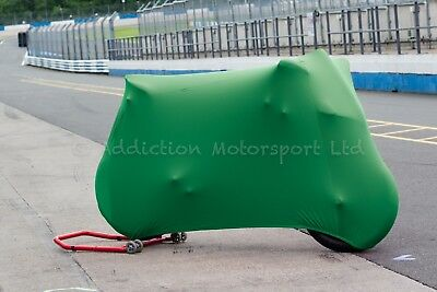 Ducati 848, 1098, 1198 S R Super Soft Stretch Indoor Bike Cover Breathable Green
