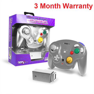 New TTX Tech WAVEDASH Wireless Controller for Nintendo GameCube or Wii Silver