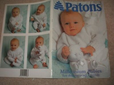 555089e44 PATONS MILLENNIUM BABIES Baby Clothing Knitting Patterns 0-12 Months ...