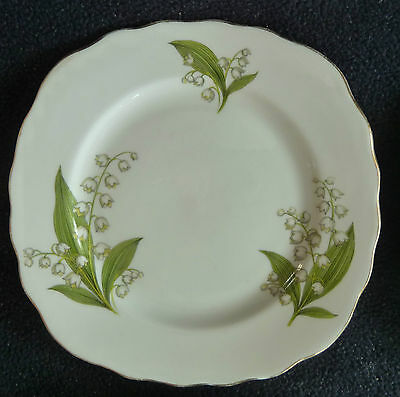 Four Royal Vale Bone China Side Plates Lily of Valley Flowers WhiteTableware