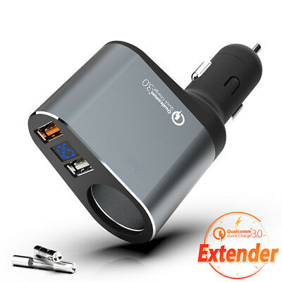 New QC3.0 Fast Charging Automotive Cigarette Lighter Car Charging Intelligent
