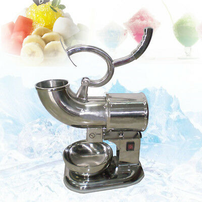 US STOCK!440lbs 220W Ice Shaver Sno Snow Cone Maker Shaved Icee Electric Crusher
