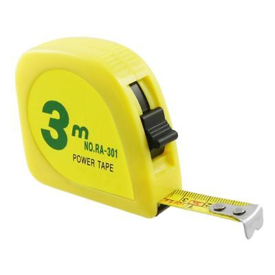 3 meter retractable yellow measuring tape, in steel, for measurements F5H7