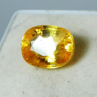 8.85 Ct Natural Oval Ceylon Yellow Color Sapphire  Gemstone P