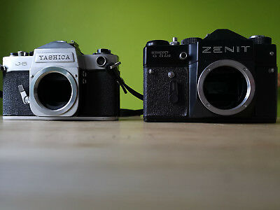 yashica j-5 and zenit ttl bodys