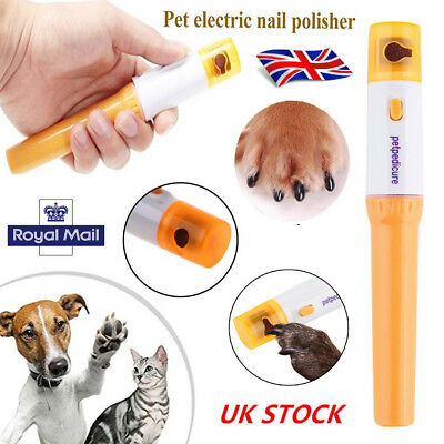 Dogs Cats Electric Nail Grooming Grinder Safe Trimmer Clipper Nail File Pet Claw