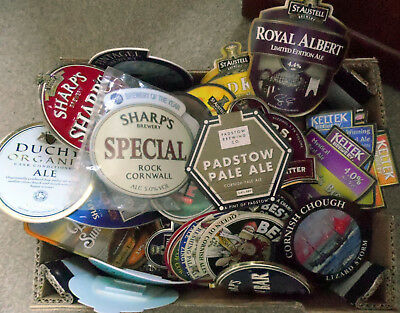 CORNWALL BREWERIES - Joblot of 60 Pump Clips. St Austell, Skinners Sharps + more