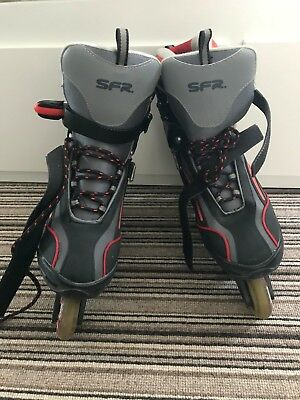 Mens inline skates SFR size 11 USED ONCE !!! + free elbow&knee pads