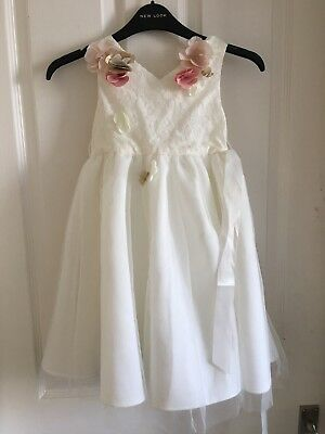 Gorgeous Girls Ivory Flower Girl Bridesmaid Dress From Monsoon Age 5 Years BNWT