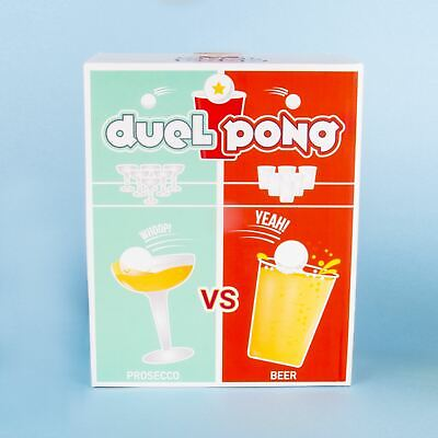 Drinking Game Duel Pong, Prosecco & Beer Novelty Adult Party Game Hen Stag Party