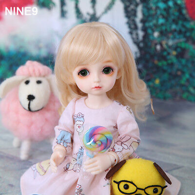 1/6 Handmade Resin BJD MSD Lifelike Doll Joint Dolls Girl Gift Cabbage  10""