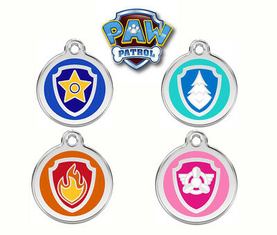 PAW PATROL Engraved / Personalised Dog ID Disc / Luggage Tags by Red Dingo