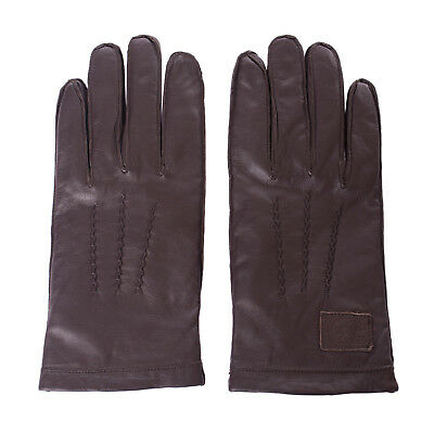 LA MARTINA Leather Gloves Size 9.5 / L Exposed Seams Patched Fully Lined RRP€129