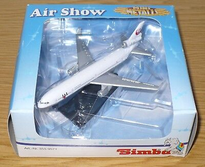 Air Show, Mini Metalls, Flugzeugmodell Japan Airlines JAL, Simba Toys, 355 9571