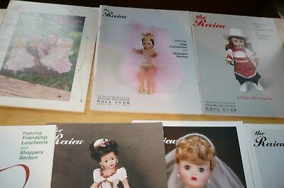 "7 Madame Alexander  Doll Club ""the Review"" Catalog Magazine Brochure 1990's"