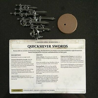 Warhammer Age of Sigmar Malign Sorcery Endless Spells Quicksilver Swords