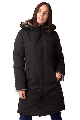 WOOLRICH Down Jacket Size M Black Teflon Coyote Fur Trim Made in U.S.A. RRP €820
