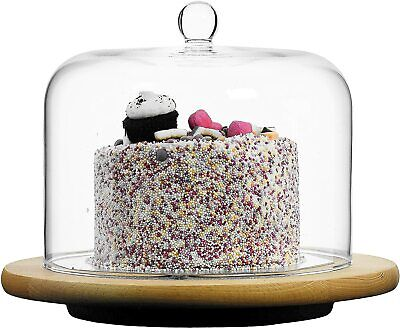 Clear Glass Cake Dome & Handle - Cheese, Cake, Cloche, Cover - Choice of Styles