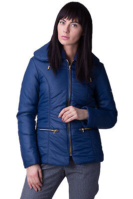 MET Jacket Size M Dark Blue Lightweight Padded Full Zip Collared RRP €180