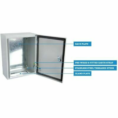 Electric Enclosure Wall Mounted box IP65 Metal Outdoor Indoor Choose size