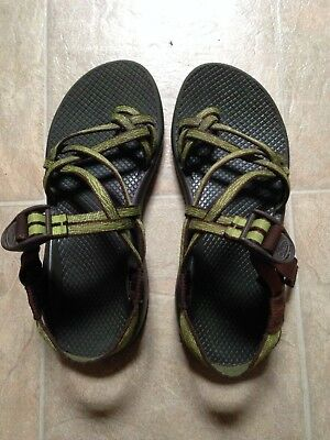 a89c4ddae160 CHACO WOMENS GREEN and Brown Z Cloud X2 Sport Sandals