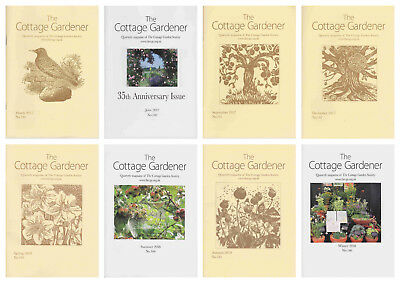 The Cottage Garden Society CGS Gardener Magazine – Complete Years 2017 and 2018