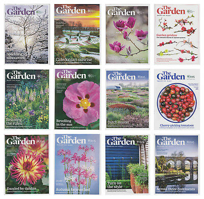 12 Issues RHS Royal Horticultural Society The Garden Magazine Complete Year 2018